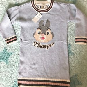 NWT Baby Gap x Disney Thumper knitted dress (3T)